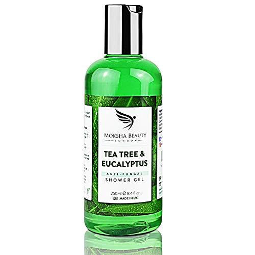 Tea Tree Eucalyptus Gel Douche pour Homme - Soin du Corps aux Huiles Essentielles Naturel Made In U.K Soin de la peau Arbre a Thé | Relaxation Musculaire 250ml