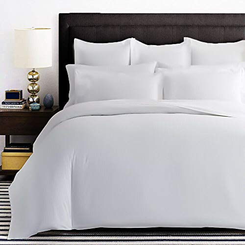Renoazul Duvet Covers King Size Beds 400 Thread Count 100% Cotton Bedding Set for Bedroom Decor, 3 Piece Quilt Bed Cover (White Duvet Cover + 2 Pillow Case)
