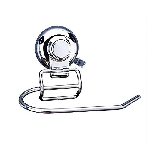 ALEENFOON Toilettenpapierhalter mit Saugnapf SUS304 Edelstahl Toilettenrollenhalter Ohne Nohren WC-Rollenhalter Papierhalter Wandrollenhalter Klopapierhalter Chrom