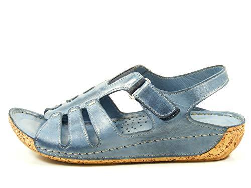 Gemini 32006-02 Schuhe Damen Sandalen Sandaletten , Schuhgröße:39;Farbe:Blau