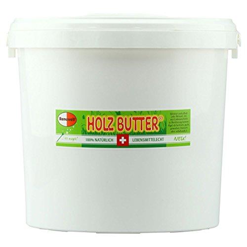 RENUWELL Holz Butter 3 Liter Eimer lebensmittelecht