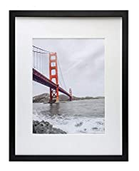 Highest quality material: 16x20 black frames come with elegant print perfect for framing your 11x14 picture (with ivory color mat) or 16x20 picture (without mat) Protect your pictures: the 2 mm glass front will keep your favorite photos looking great...