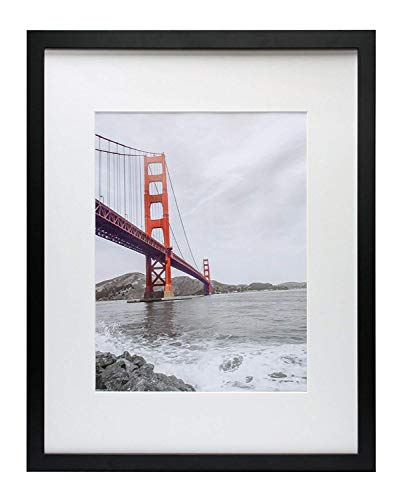 "Mejor AmazonBasics 11"" x 14"" Photo Picture Frame or 8"" x 10"" with Mat - Black, 2-Pack crítica 2020"
