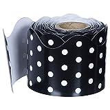 Carson Dellosa – Black and White Dots Rolled Scalloped Border, Classroom Décor, 36 Feet