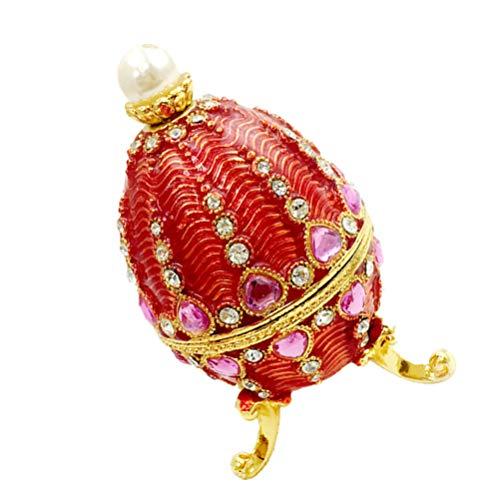 Homoyoyo Easter Egg Jewelry Container Small Trinket Caja de Almacenamiento de Joyas Holder for Women Home Office