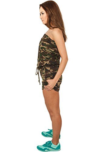 Urban Classics Ladies Camo Hot Jumpsuit TB735; Farbe:wood camo-00396 - 2