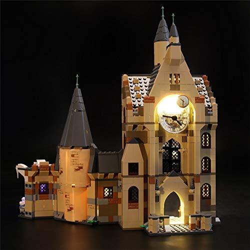 Juego de Luces LED para Lego 75948, Kit de iluminación USB Compatible con el Modelo de Bloques de construcción de la Torre del Reloj de Hogwarts, Regalos para Amigos, niños (Solo Luces)