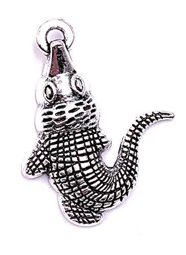 H-Customs Krokodil Reptil Tier Charm Anhänger Kettenanhänger Bastelbedarf Schmuck