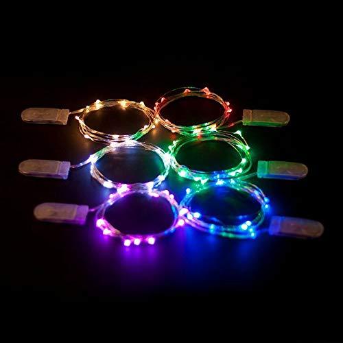 Decoratieve lichtketting, werkt op batterijen, voor slaapkamer, buiten, koken in de oven, batterijketting, koperdraad, lichtdraad, wit, 5 meter 50 lampen