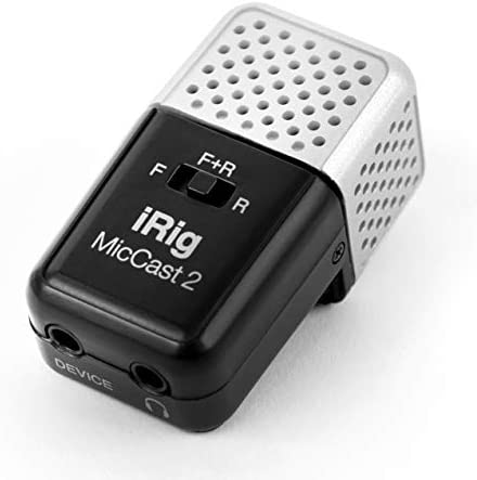 IK Multimedia iRig Mic Cast 2 Pocket Sized Microphone for iPhone iPad and Android Devices product image