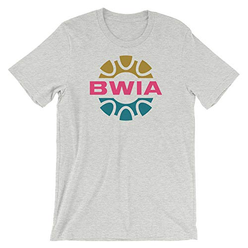 BWIA West Indies Airways Unisex T-Shirt Athletic Heather