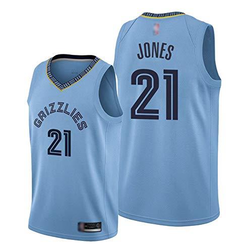 Baloncesto Deportivo De Los Hombres NBA Memphis Grizzlies # 21 Tyus Jones # Howard Jersey, Gimnasio De Secado Rápido Transpirable Suelto, Ocio Camiseta Sin Mangas,Azul,L(175~180cm)