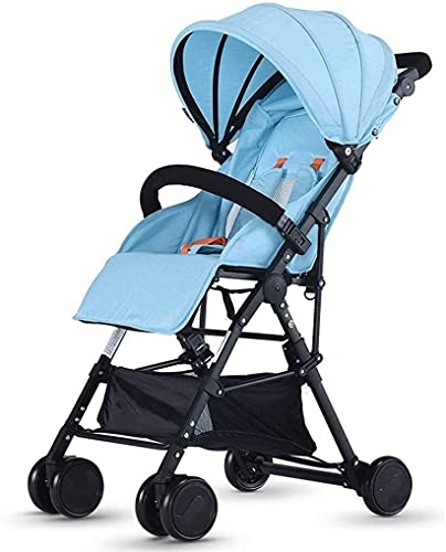 Carrito liviano recién nacido bebé liviano bebé cochecito cochecito cochecito caminante (Color : Blue1)