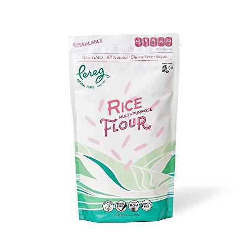 Premium Quality White Rice Flour (14 Oz)   Made From Ground White Rice for Gluten-Free Baking   Gluten-Free, Vegan, Non-GMO & Kosher