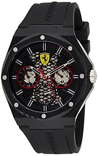 Scuderia Ferrari Herren Analog Quarz Uhr mit Silicone Armband 830785
