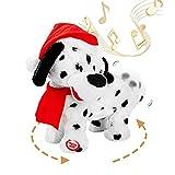 Twerking Dog Santa Claus, Shaking Hips Walking Circle Santa Dog Singing Dancing Christmas Santa Claus Toys Xmas Electric Dolls Gift