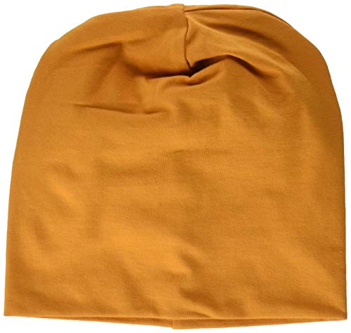 Fred's World by Green Cotton Unisex Baby Alfa Beanie Hat, Brown Caramel, 92/98