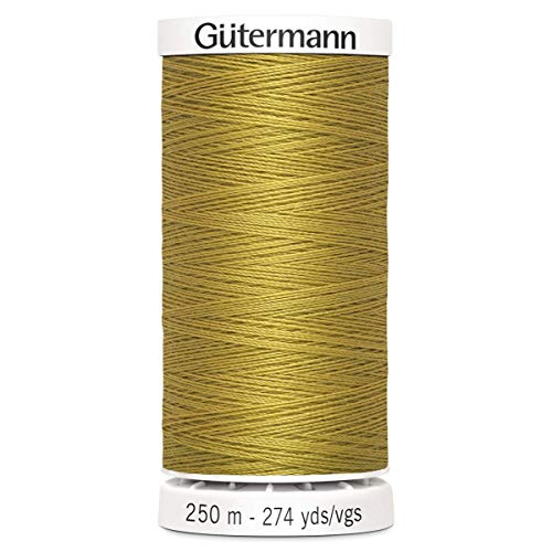 Gutermann Sew All Polyester Thread, 250Mtr, Jeans Gold (0968)
