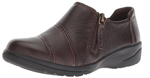 Clarks Women's Cheyn Clay Loafer, Brown Leather, 8.5 M US