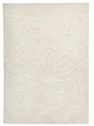 heine home handgearbeiteter Hochflorteppich Wollteppich in beige, Größe Teppiche:ca. 60 x 90 cm