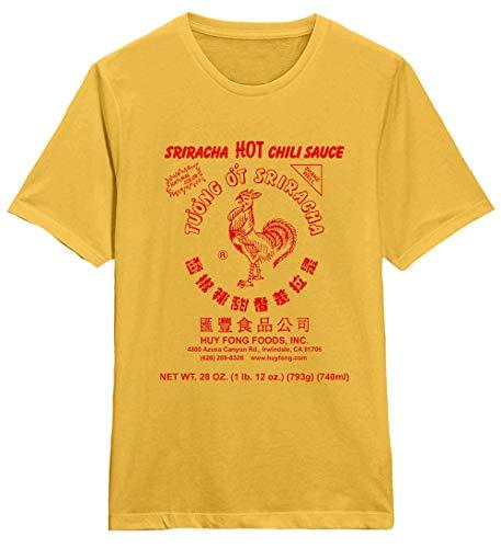 Sriracha Caliente Chile Salsa - Huy Fong Foods - Camiseta Oficial Hombre - Amarillo, XXL