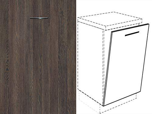 Premium-Ambiente FRT100 Unterschrank Front für Geschirrspüler FE (Breite 45cm-vollintegriert, 31 Mali Wenge)