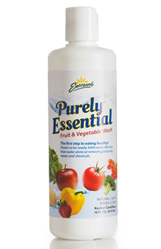 Environne Purely Essential Fruit & Vegetable Wash, None, 16 Fl Oz (Pack of 6)