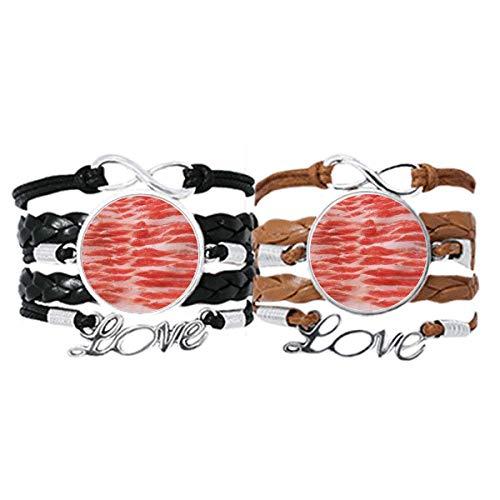 DIYthinker - Pulsera de piel con textura de carne de cerdo, mutón,...