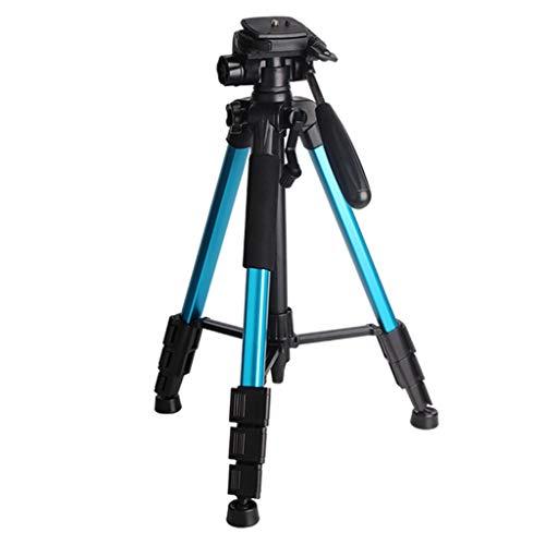 LICHUAN - Treppiede leggero da 55 pollici, per fotocamera da viaggio, con telecomando Bluetooth per la registrazione video treppiede per viaggi e lavoro (colore blu)