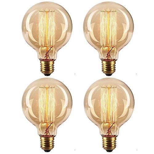 ONEPRE 3 Pack Vintage Light Bulb Dimmable Retro E14 Screw Edison Filament Light Bulb ST48