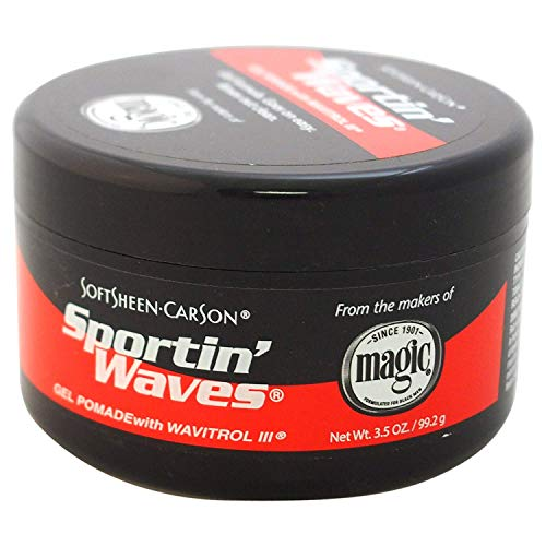 Soft Sheen-Carson Sportin' Waves Gel Pomade, with Wavitrol III, 3.5 Oz (Pack of 3) by Soft Sheen