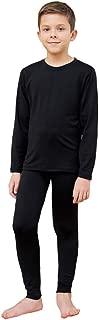 HEROBIKER Kids Ultra Soft Fleece Lined Thermal Underwear Boys Long Johns Top Bottom Set 2pcs
