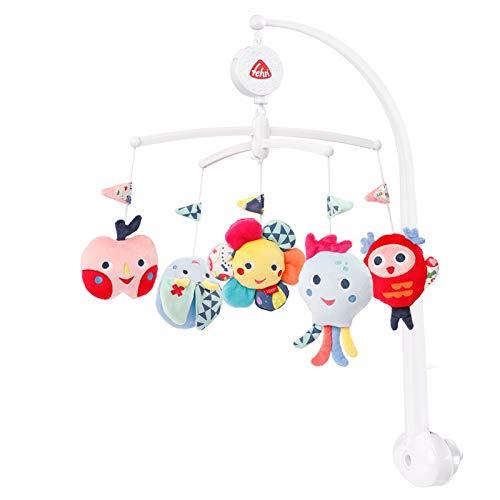 Fehn 00055191 055191 Musik-Mobile COLOR Friends – Aufzieh-Mobile mit schöner Spieluhr-Melodie für Babys von 0-5 Monaten, mehrfarbig, 511 g