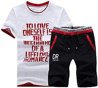 Xswsy XG Mens Sport Print Shorts 2-Piece Sets T-Shirt Running Tracksuits