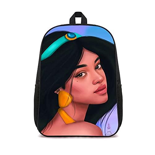 LUOTINGL Zaino con stampe Aladdin: modello Jasmine Borsa da scuola casual in nylon Zaino da viaggio ZAINO ZAINO 41x12x28cm