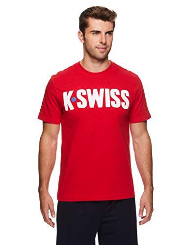K-Swiss Men's Graphic Workout T Shirt - Short Sleeve Gym &...