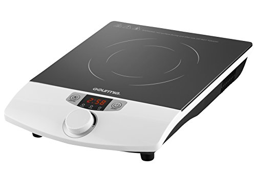 Gourmia GIC100 Multifunction Portable Induction Cooker - 8 Power Level Controls - 1800W
