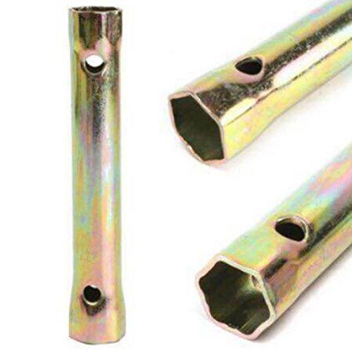 #N/D Profesional motocicleta bujía llave durable 13 cm 16/18 mm coche socket llave portátil herramienta de reparación