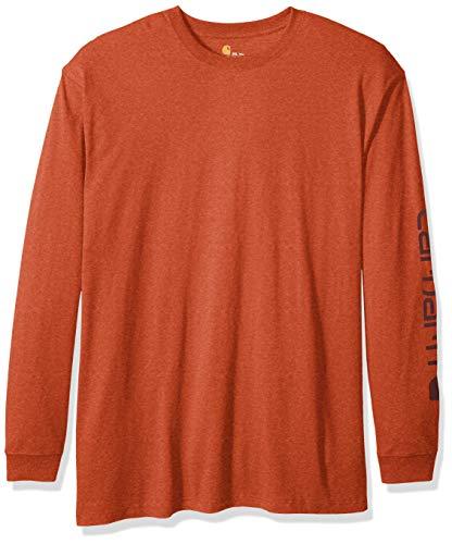 Carhartt Men's Big and Tall Big & Tall Signature Logo Long Sleeve T-Shirt