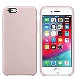 Funda de Silicona Silicone Case para iPhone 6 Plus, iPhone 6S Plus, Tacto Sedoso Suave, Carcasa Anti Golpes, Bumper, Forro de Microfibra… (Rosa Arena)