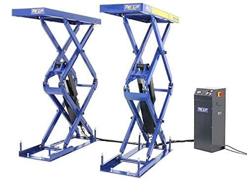 Pro-Lift-Werkzeuge Unterflur Einbau Doppel Scheren-Hebebühne 3200kg 400V Bodeneben Autobühne 3,2t Werkstattbühne