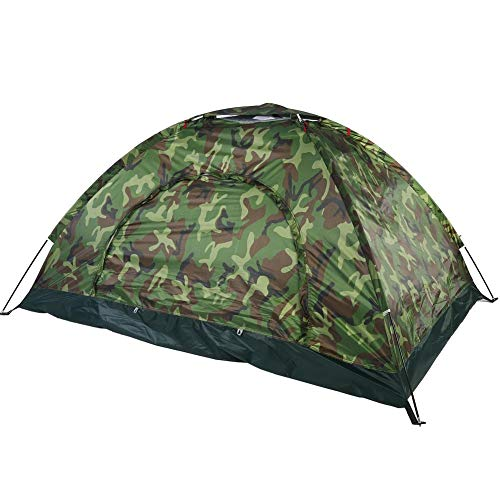 VGEBY1 Dome Tents, Camouflage UV Dust Fog Protection Waterproof Tent for Outdoor Camping Hiking