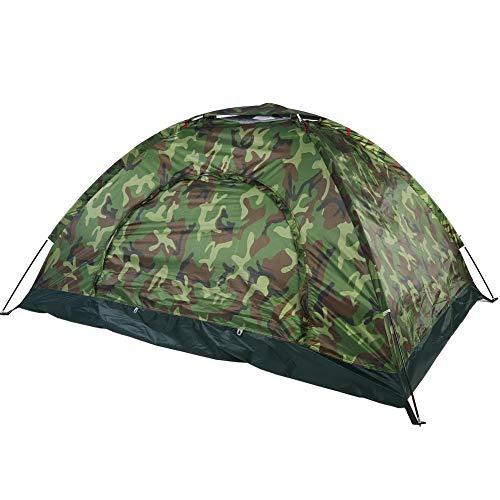Focket Camouflage Zelt, Outdoor 2 Personen Zelt, UV-Schutz wasserdichte leichte Familienzelt für Camping Wandern