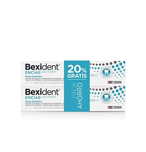 Isdin Bexident Encías Uso Diario Pack ahorro 20% EXTRA Pasta dentífrica 125ml+125ml
