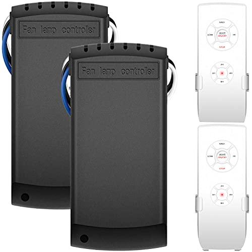 Juego de 2 kits de control remoto universales para ventilador de techo, mando a distancia inalámbrico y kit de receptor para Harbor...