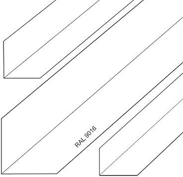 Aluminium Winkel Aluwinkel Walzblankes Aluprofil Winkelprofil Pulverbeschichtet 60x30x2mm 1500mm Wei/ß RAL9016