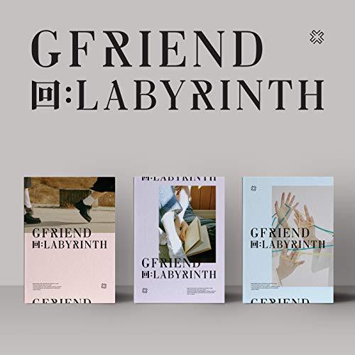 Source Music GFRIEND Album, Labyrinth (8. Mini-Album), Vorbestell-Vorteil, gefaltetes Poster und zusätzliche Fotokartenset Schwarz