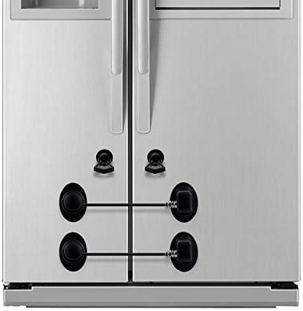 2 Pack Refrigerator Lock Baby Proof Mini Fridge Door Lock Child Safety Cabinet Locks 3M Adhesive product image