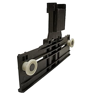W10350375 Dishwasher Top Rack Adjuster W/ 1.25 Inch Diameter Wheels (Redesigned for Heavy Duty Wheel Support)