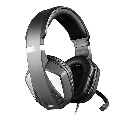 NBVC Surround Stereo Gaming Headset hoofdband hoofdtelefoon USB 3.5mm met microfoon for PC / PS4 / XBOX ONE/SWITCH Headset spel headset (Color : Black)
